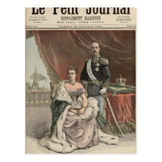 Cartão Postal O aniversário de casamento de prata do rei