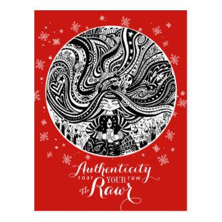 Cartão Postal O anjo de Grincheux deseja a   a autenticidade