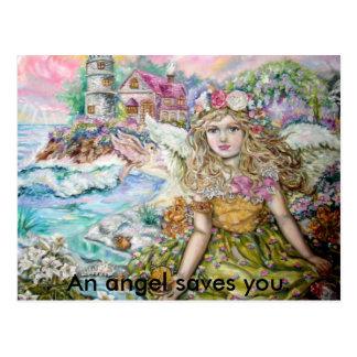 Cartão Postal O anjo do marisco da pérola., um anjo sav…