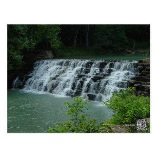 Cartão Postal O antro do diabo, cachoeira de Arkansas