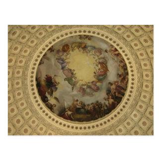 Cartão Postal O Apotheosis do Capitólio de Washington Rotunda