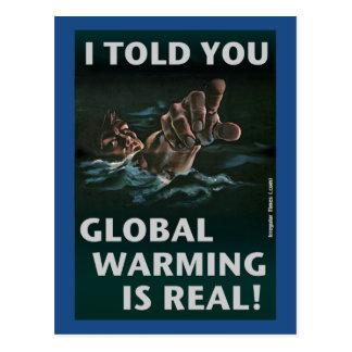 Cartão Postal O aquecimento global é real