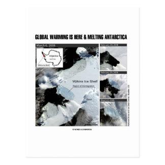 Cartão Postal O aquecimento global está aqui e a Antártica de