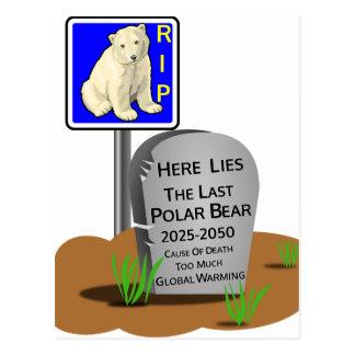 Cartão Postal O aquecimento global, RASGA o urso polar 2050
