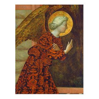 Cartão Postal O arcanjo Gabriel, C. 1430 (tempera no painel)