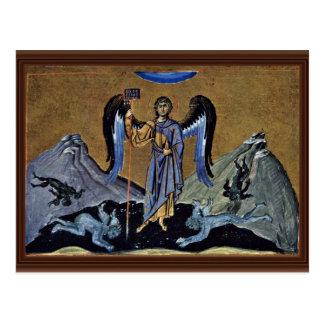 Cartão Postal O arcanjo Michael pelo DES de Meister Der Ménologe