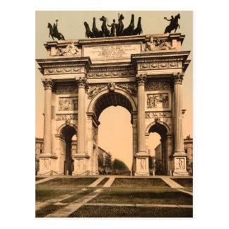 Cartão Postal O arco da paz, Milão, Lombardy, Italia