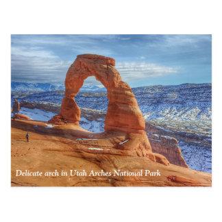 Cartão Postal O arco delicado em Utá arqueia o parque nacional