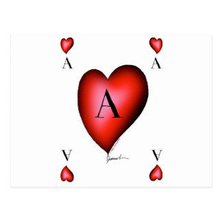Cartão Postal O ás de corações por Tony Fernandes