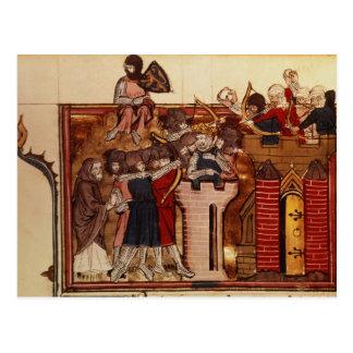 Cartão Postal O assalto do cruzado em Jerusalem