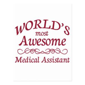 Cartão Postal O assistente médico o mais impressionante do mundo