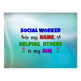 Cartão Postal O assistente social é meu nome