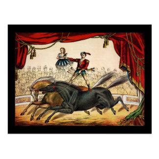 Cartão Postal O ato do dois-cavalo