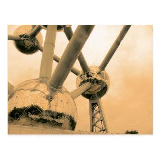 Cartão Postal O Atomium Bruxelas