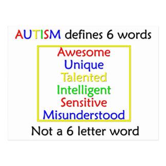 Cartão Postal O autismo define