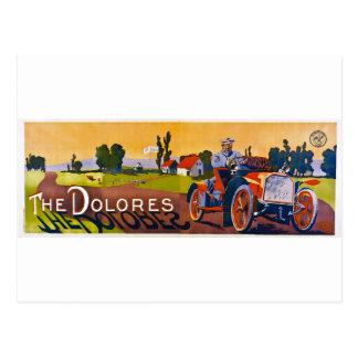 Cartão Postal O automóvel de Dolores
