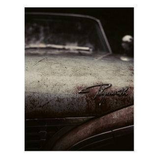Cartão Postal O automóvel de Plymouth do vintage oxidou