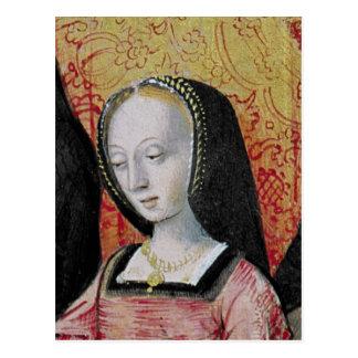 Cartão Postal O autor que oferece seu livro a Anne de Brittany