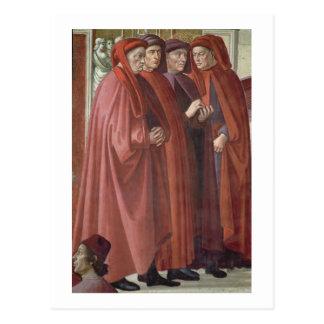 Cartão Postal O aviso a St. Zacharias (fresco) (detalhe