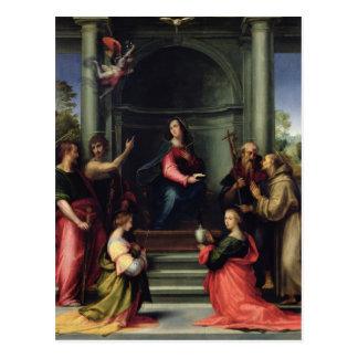 Cartão Postal O aviso com santos, 1515
