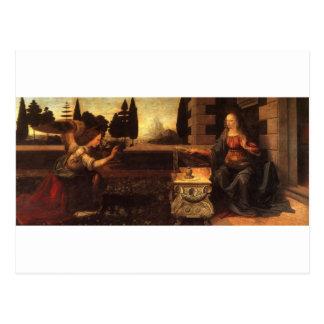 Cartão Postal O aviso por Leonardo da Vinci C. 1472-1475
