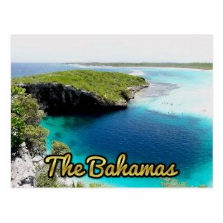 Cartão Postal O Azul Furo de Bahamas do decano
