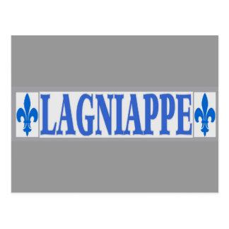 Cartão Postal O azul telha Lagniappe