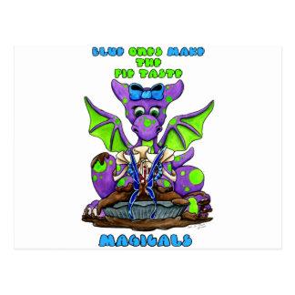 Cartão Postal o azul uns faz o dragão do bebê do gosto MAGICALS
