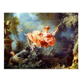 Cartão Postal O balanço por Fragonard