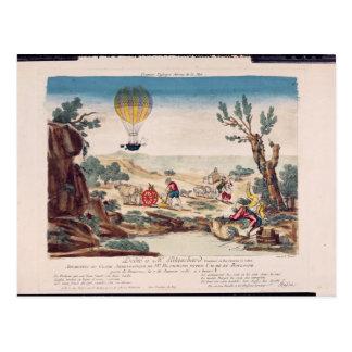 Cartão Postal O balão de ar quente de Jean Pierre Blanchard