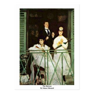 Cartão Postal O balcão por Manet Edouard