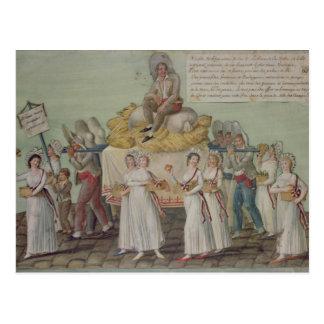 Cartão Postal O banquete da agricultura em 1796 em Paris