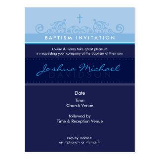 Cartão Postal O BAPTISMO CONVIDA:: 6 elegantes