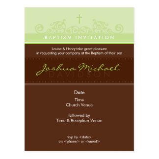 Cartão Postal O BAPTISMO CONVIDA O CARTÃO:: 1P elegante
