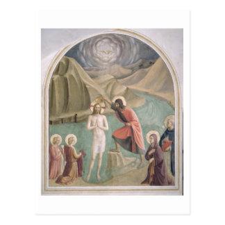 Cartão Postal O baptismo do cristo, c.1438-45 (fresco)