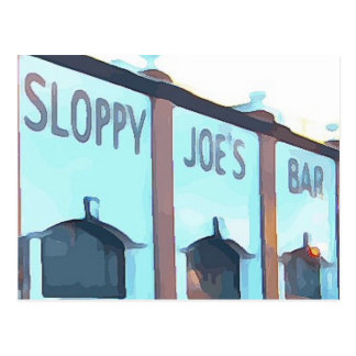 Cartão Postal O bar de Joe superficial