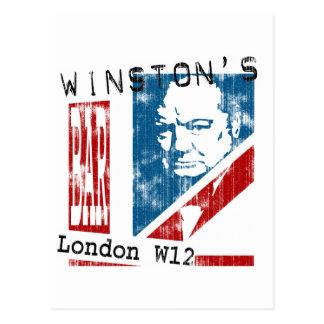 Cartão Postal O bar de Winston, Londres (olhar vestido)
