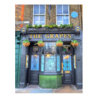 Cartão Postal O bar Londres das uvas
