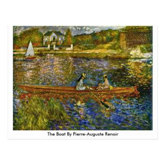 Cartão Postal O barco por Pierre-Auguste Renoir