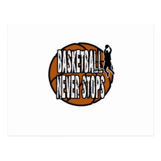 Cartão Postal O basquetebol nunca para