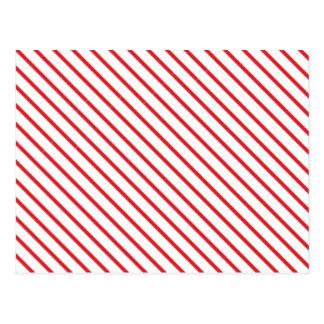 Cartão Postal O bastão de doces do Natal listra o teste padrão