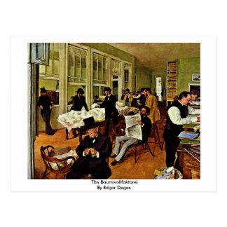 Cartão Postal O Baumwollfaktorei por Edgar Degas