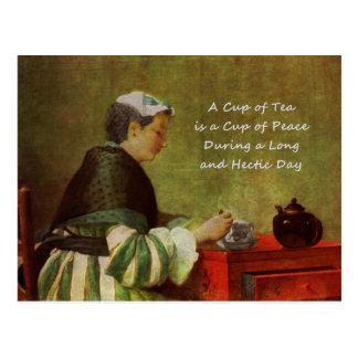 Cartão Postal O bebedor 1735 do chá