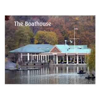 Cartão Postal O Boathouse no parque, foto da queda