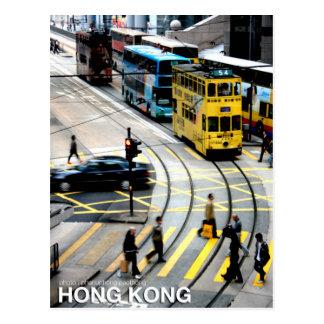 Cartão Postal O bonde de Hong Kong