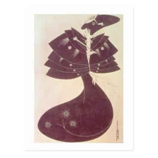 Cartão Postal O cabo preto, ilustração para o editi inglês