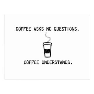 Cartão Postal O café compreende
