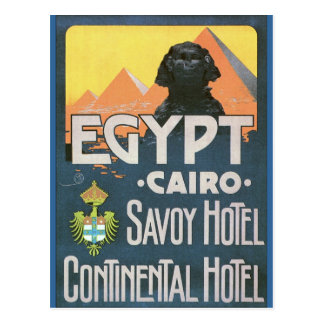 Cartão Postal O Cairo Egipto - arte do poster das viagens