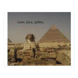 Cartão Postal O Cairo, Giza, a esfinge (St.K.)