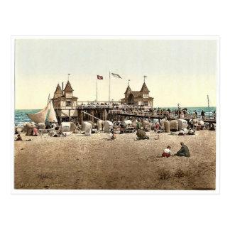 Cartão Postal O cais, Ahlbeck, Pommeraina SIC, pH raro de